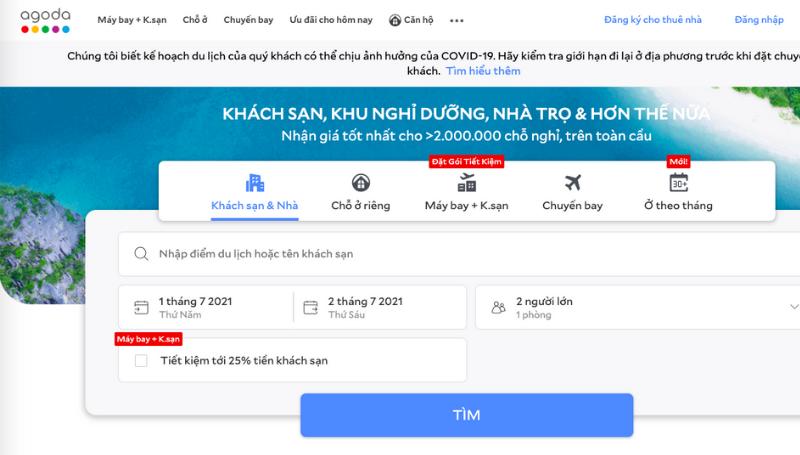 Thi truong ban le Thuong mai dien tu Viet Nam - Du lich