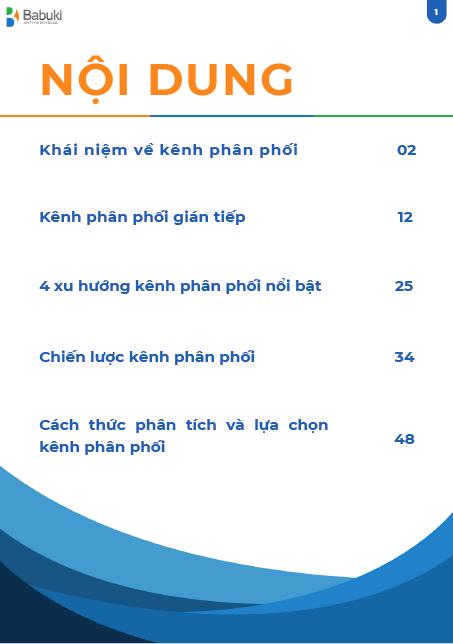 Ebook Kenh phan phoi - Khai niem, Xu huong & Chien luoc - index